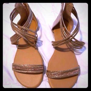 Straps glitter sandals